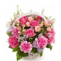 Mindent köszönök - virágkosár