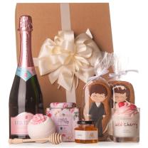 Esküvői ajándékcsomag pezsgővel