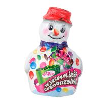 Hóember tejcsokoládé figura cukordrazséval