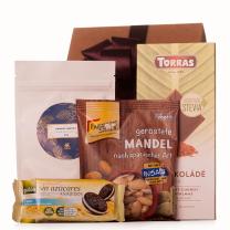 Ajándékcsomag finomságokkal, hozzáadott cukrok nélkül