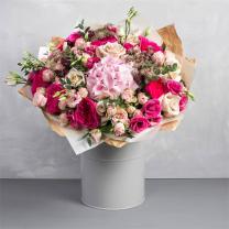 Habcsók rózsaszín virágcsokor