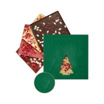 Karácsonyi táblás csokoládé emblémázható dobozban