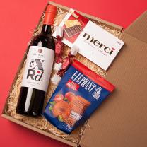 Ajándékbox borral karácsonyra céges partnereknek