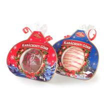 Kézműves karácsonyfa gömb csokoládéból