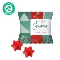 Karácsonyi csillag logózható csokoládé