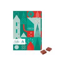 Adventi naptár logózható csokoládéval