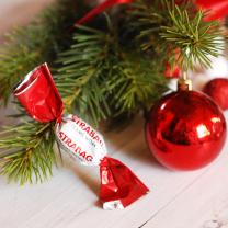 Logózható reklámszaloncukor - céges karácsonyi ajándék