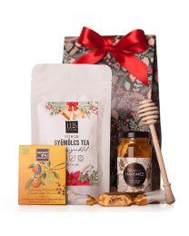 Karácsonyi ajándékcsomag teával cégeknek