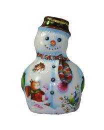 Fehér csokis hóember figura