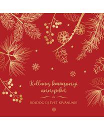 Kihajtható céges karácsonyi képeslap 1.