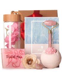 Ajándékcsomag rózsakvarc arcmasszírozó rollerrel