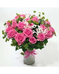 Rózsaszín varázslat - vázával