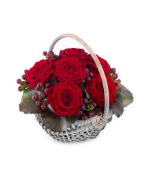 Szívdobbanás virágkosár