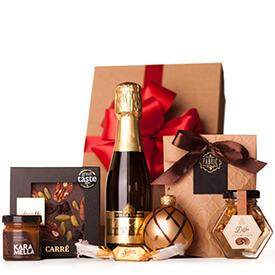 Karácsonyi ajándékcsomag pezsgővel