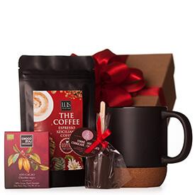 Kávés ajándékcsomag bögrével