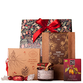 Apró karácsonyi csomag csokival