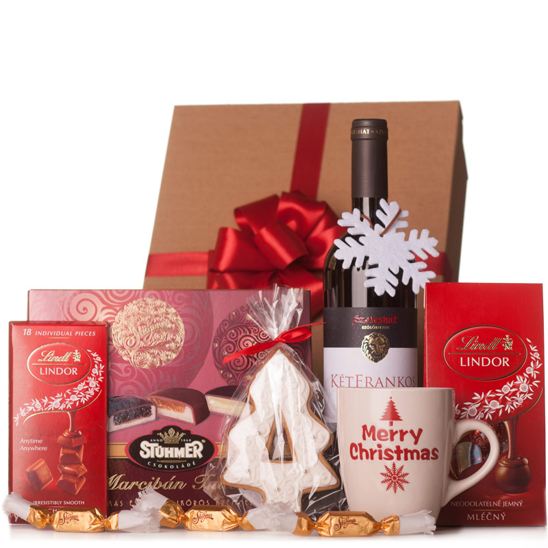 Fehér karácsony céges karácsonyi ajándékcsomag