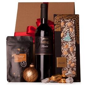 Karácsonyi ajándék borral