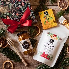 Teás-mézes céges ajándékcsomag